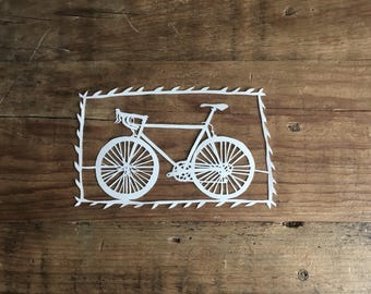 Hand cut paper bicycle - Papercutting