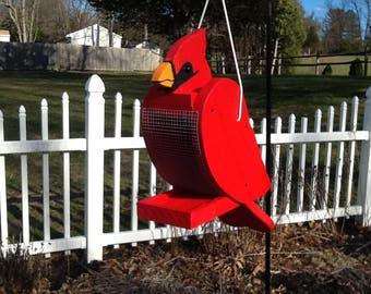 Handcrafted Cardinal Bird Feeder