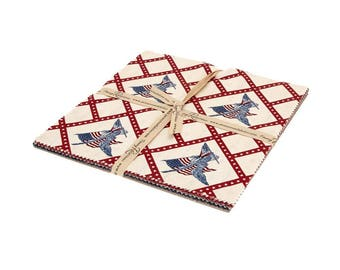 """10"""" STACKER - Americana by Carrie Quinn for Penny Rose Fabrics of Riley Blake, Item #10-477–21 Ten Inch Stacker, 21 Piece 10"""" X 10"""" Squares"""