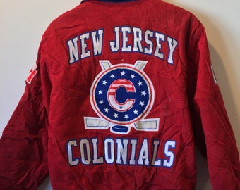 New Jersey Colonials Corduroy Letterman Jacket