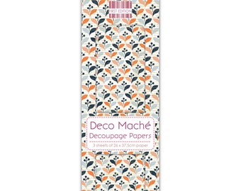Retro Repeat Pattern Decoupage Papers x 3 - First Edition