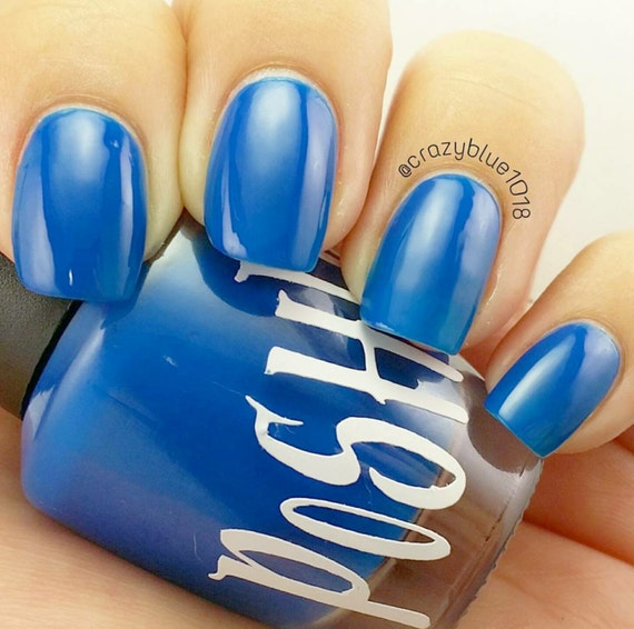 "Neon Blue Nail Polish: Unique ""Brilliant Blue"" Neon Blue (Fluorescent) Nail"