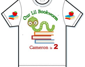 Our Little Bookworms Birthday shirt