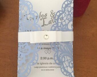 Lot of 10 Laser cut wedding envelope