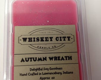 Autumn Wreath Wax Melts Clamshell Bar Highly Scented 6 cavity