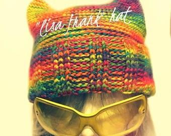 """Dummy's Knitty Kitty """"Lisa Frank"""" Hat"""