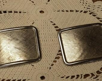 Vintage Silvertone Shoe Clips