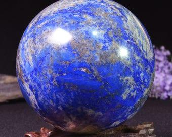 "3.14""Best Natural Large Lapis Lazuli Sphere/Lazuli Ball/ Lazuli Decoration/Energy Stone Ornaments/Healing stone of Lazuli Sphere-80mm-842g"