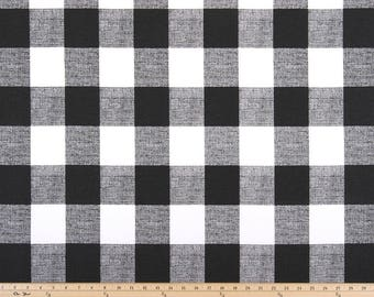 Anderson Black, Buffalo Plaid, Fabric by the Yard
