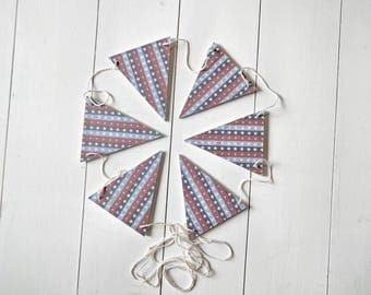 Stars wood bunting, patriotic banner , Fourth of July banner , 4th of July bunting , patriotic bunting, garland, banner