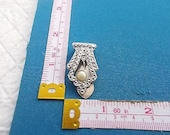Vintage Art Deco Diamant Pearl and Paste Dress Clip
