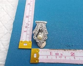 Vintage Art Deco Diamanté, Pearl and Paste Dress Clip