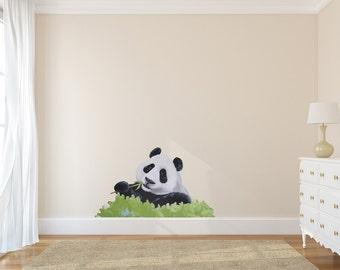 Panda Decal, Panda wall decal, panda wall decals, panda decals, panda wall sticker, panda wall stickers, childrens decals, kids decals