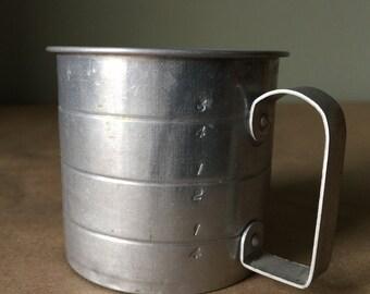 1950 Aluminum Measuring Cup Vintage Baking Kitchenalia