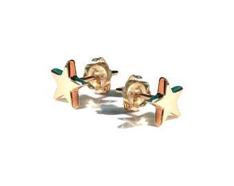 Jules Mini-Star Earrings, solid 9ct Gold