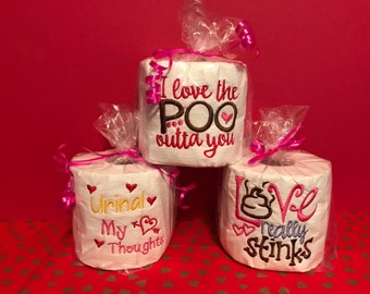 Embroidered Valentine's Toilet Paper