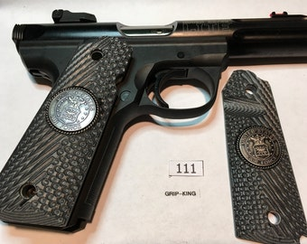 Ruger 22/45 lite grips, U.S. Air Force special issue medallions,military tactical specs, weatherproof,non slip, G 10 Micarta, sale!  # 111