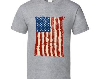 Vintage Usa Flag T Shirt