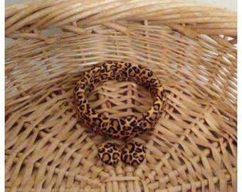 Cheetah Print Bracelet Set, Cheetah Fashion