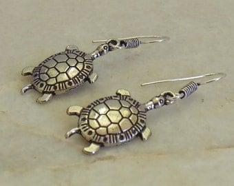 Tortoise earrings | Dangle earrings | Ethnic jewelry | Oxidized silver plated jewelry | Indian fusion earring | Girls festive earring | E69