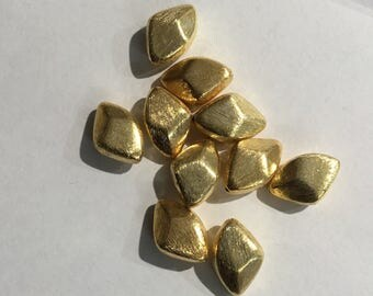 Vermeil nugget beads