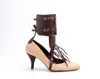 Brown  Pointy Toe /Women's High Heel shoes/ Handmade shoes /Pump/Free shipping/Model shoes /Christmas gift
