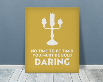 Beauty and the Beast Printed Canvas Art | Lumiere Print