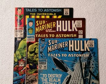 Lot of 3, Tales to Astonish #'s 77, 98, and 101 (1965-67)