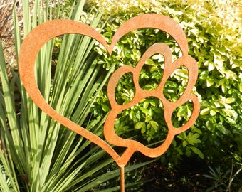 Pet Memorial Ideas For The Garden pet memorial for the garden available from httpwww Rusty Metal Pet Memorial Dog Memorial Pet Grave Marker Cat Memorial Heart