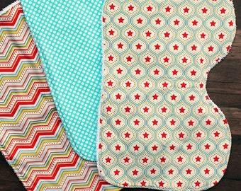 Large. Countoured. Quality. Designer Burp Cloths - Choose up to 3