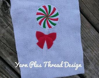 Christmas Lollipop Applique Embroidery Design
