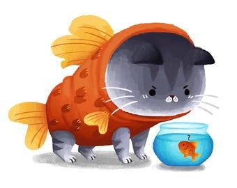 Catfish Giclée Art Print