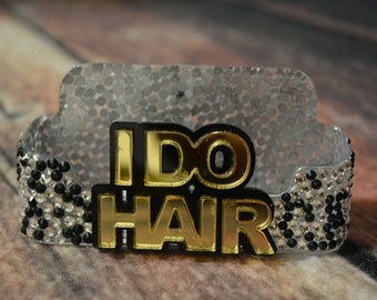 I Do Hair Business Card Holder