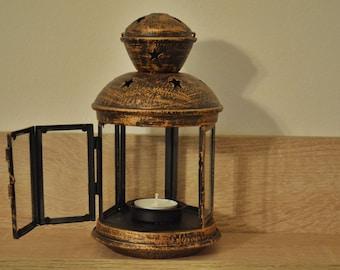 Vintage metallic bronze lantern / rustic lantern / wedding lanterns