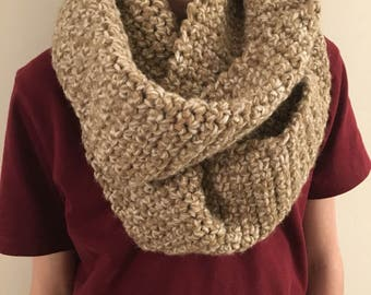 Oatmeal Wool Infinity Scarf