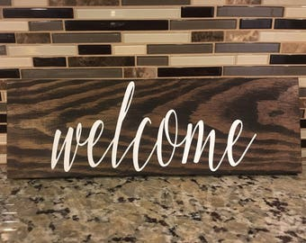 Welcome Sign - Hand Painted