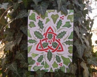 Celtic Christmas Folklore - Gathering the Greens 5x7 Fine Art Print