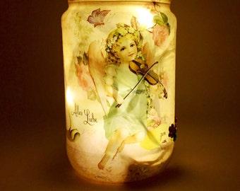 Pretty Fairy Light, Night Light Jar