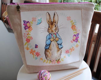 "Project bag - ""Peter Rabbit in the Flowergarden"""