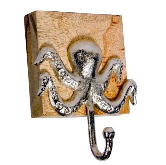 Octopus hooks, wall hooks, keychain holder, jewelry holder, Octopus decor, nautical decor, beach decor, necklace holder