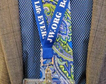 JW.ORG Best Life Ever! Lanyard w/ Badge Holder. Great for District Conventions Royal Blue with White Font