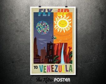 Disney Pixar's Up - Fly Up To Venezuela - Kids Gift, Nursery Decor, Nursery Wall Art, Nursery Prints, Children Gift, Children Birthday
