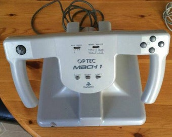 Playstation OPTEC MACH 1 Flight Controller Steering Wheel PS1 RARE !