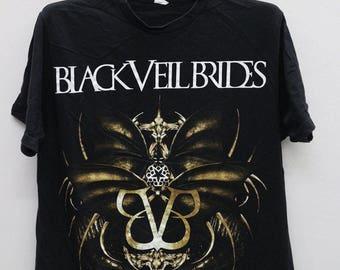 Vintage BLACK VEIL BRIDES Black Tee T Shirt Size L