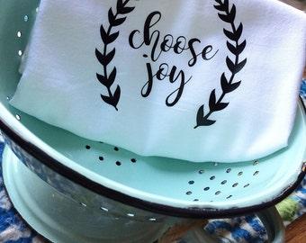Farmhouse Kitchen Choose Joy Flour Sack Dish Towel Floursack Tea Towels Decor Farm Font Housewarming Christmas - Wedding Centerpiece Gift
