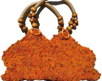 Acapulco Orange Knitted Handbag
