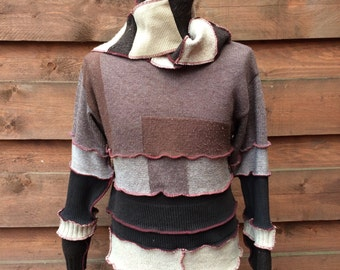 nice up cycled sweater for men!!