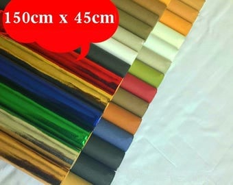 "Kraft Paper Fabric, Washable Kraft Paper, multiple color, 18"" x 59"""