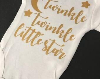 Twinkle Twinkle little star baby onesie