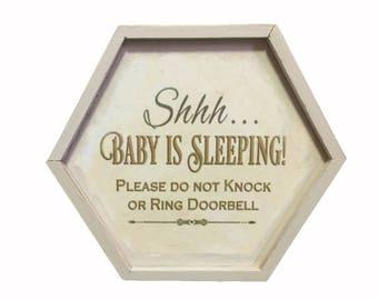 "Baby Vintage Keepsake ""Shhh"" Wood Box"